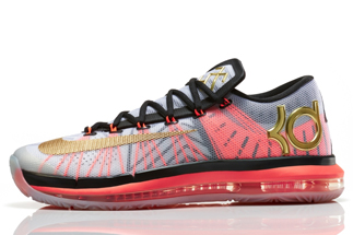 """newest 9283c d9651 Nike KD 6 Elite """"Gold Collection"""" Color  White Metallic Gold-Pure  Platinum-Black Style Code  642838-100. Release Date  06 06 14"""