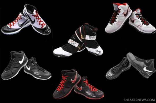 Nike LeBron Autographed Game-Worn PE's