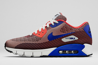 """save off 0b51c 29531 Nike Air Max 90 Jacquard PRM """"Mercurial Collection"""" Color  Hyper  Punch White-Game Royal-Obsidian Style Code  669822-600. Release Date   06 12 14. Price   135"""