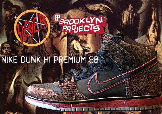 78b54e81ee21 Nike SB Dunk High Premium  Reign in Blood  - New Photos ...