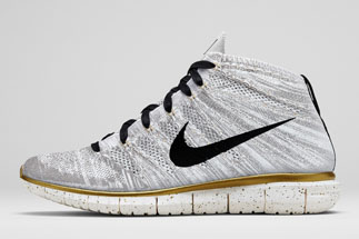 "d8258e0363d0 Nike Free Flyknit Chukka ""Hypervenom Collection"" Color   Ivory Black-Metallic Gold-Metallic Silver Style Code  640652-100. Release  Date  06 26 14"