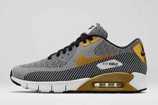 "sale retailer 6b3ea 8b991 Nike Air Max 90 Jacquard ""Hypervenom Collection"" Color  Ivory Metallic Gold-Metallic  Silver-Black Style Code  669822-100. Release Date  06 26 14"