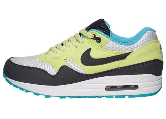 Womens Nike Air Max 1 Citrine Yellow Gridiron White