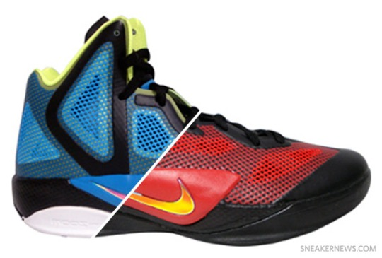 Nike Zoom Hyperfuse 2011 – Black – Blue + Black – Red