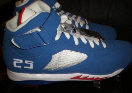 c14d2ad11108 Air Jordan Force Fusion V Cleat – Andruw Jones LA Dodgers PE