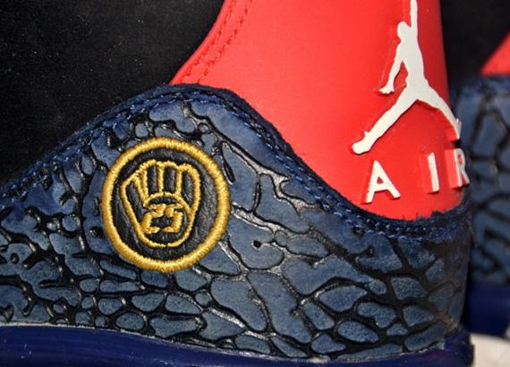 Air Jordan III - Andruw Jones Atlanta Braves Game-Worn PE Cleats ... b82e5a4b9