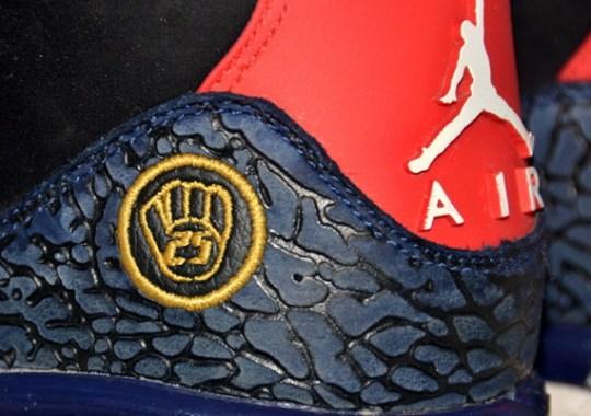 Air Jordan III – Andruw Jones Atlanta Braves Game-Worn PE Cleats