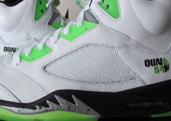 Air Jordan V Quai 54 White Radiant Green Black   New Images