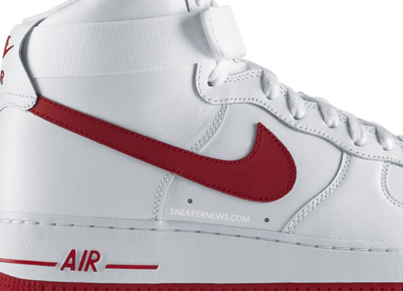 the latest 23e71 91b26 Nike Air Force 1 High - White - Varsity Red - SneakerNews.com