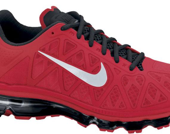 d3ef7dd2704e39 durable service Nike Air Max+ 2011 Sport Red Metallic Silver Black ...