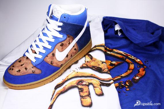 Nike Dunk High 'Cookie Monster' Customs