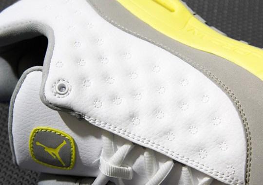 Jordan CMFT Viz Air 13 GS – White – Lemon Frost – Light Silver