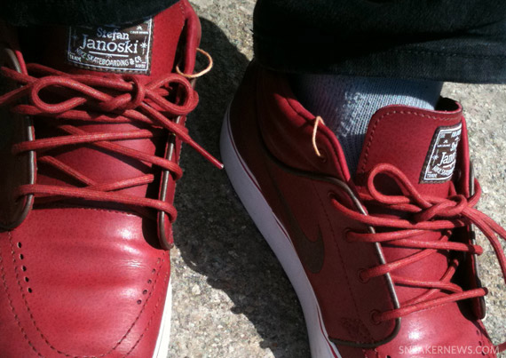 16927493f0f6 Nike SB Zoom Stefan Janoski Mid - Red Leather - New Images ...