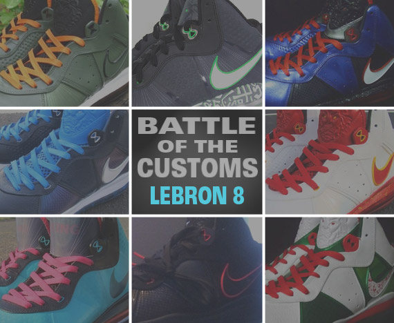 factory authentic 6d25d e68a1 Sneaker News Battle Of The Customs  Nike LeBron 8