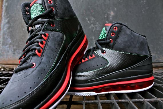 5e9d46edc22 Air Jordan 2.0 - Black - Varsity Red - Classic Green - New Photos ...