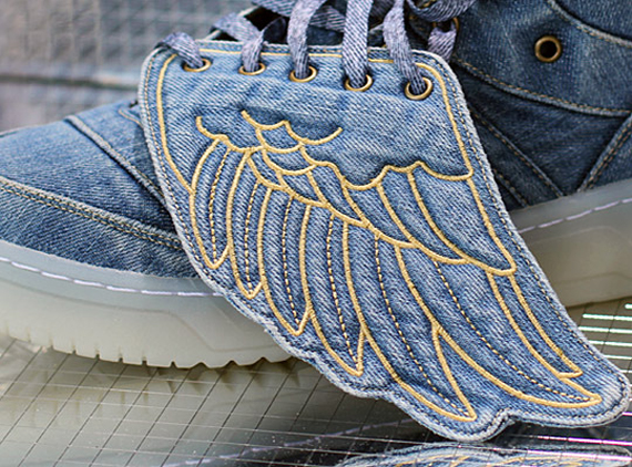 reputable site 99bc0 ccedb Jeremy Scott x adidas Originals JS Wings - Denim - SneakerNews.com
