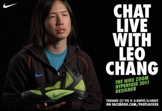 Live Chat With Nike Hyperfuse 2011 Designer Leo Chang