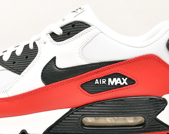 93379577adc0e Nike Air Max 90 - White - Black - Sport Red - SneakerNews.com