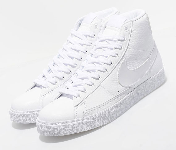 100% quality lower price with buying now Nike Blazer High Premium TG - White Leather - SneakerNews.com