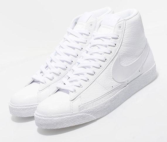 Nike Blazer High Premium TG - White Leather - SneakerNews.com e240e89ce