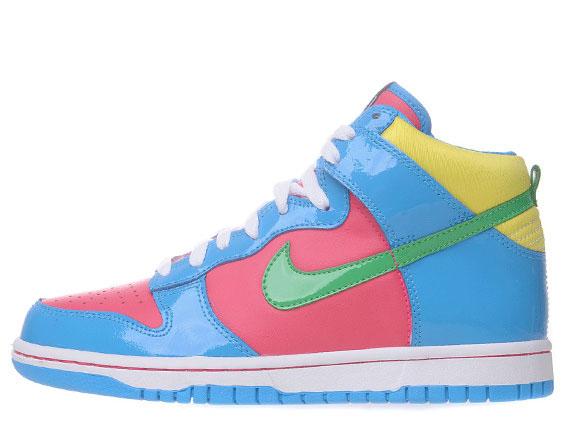 new styles fe531 6d58e Nike Dunk High GS - Cherry - Blue - Green - Yellow - SneakerNews.com