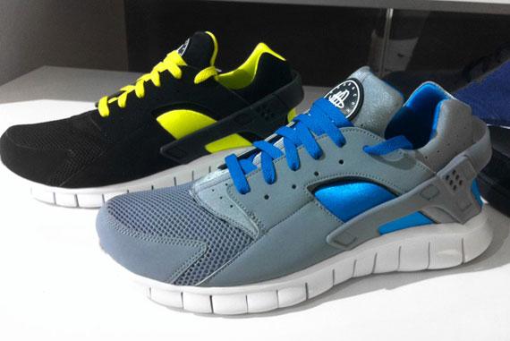 014665e77d11f Nike Huarache Free 2012 - Grey - Blue + Black - Yellow - SneakerNews.com