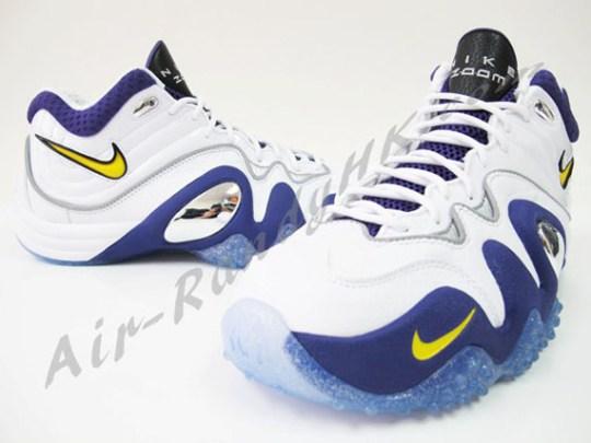 Nike Zoom Uptempo V – White – Purple – Yellow