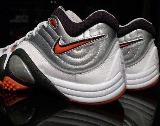 Nike Zoom Uptempo V Premium – White – Black – Orange – Silver