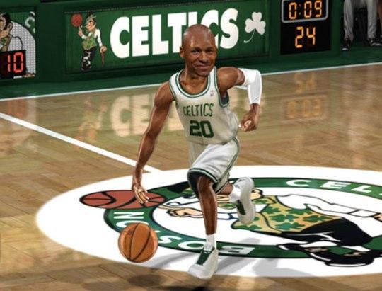 Air Jordan 2011 Ray Allen PEs in NBA Jam