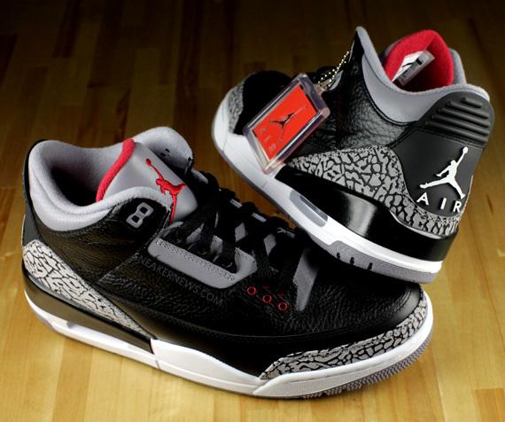 reputable site daefa 08df9 Air Jordan III - Black - Cement - 2011 Retro | Detailed Look ...