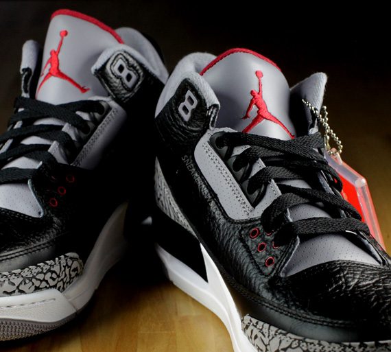 reputable site 95fdb 399c2 Air Jordan III - Black - Cement - 2011 Retro | Detailed Look ...