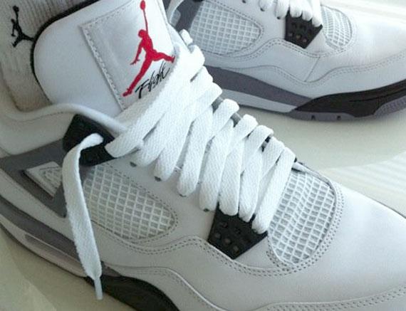 Air Jordan IV - White - Cement Grey 2012 Sample - SneakerNews.com
