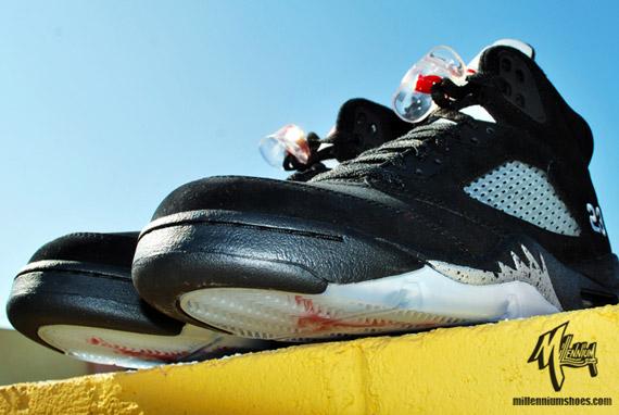 buy online a38ba 4153c Air Jordan V Retro Black Metallic Silver Full Family Sizes 50%OFF
