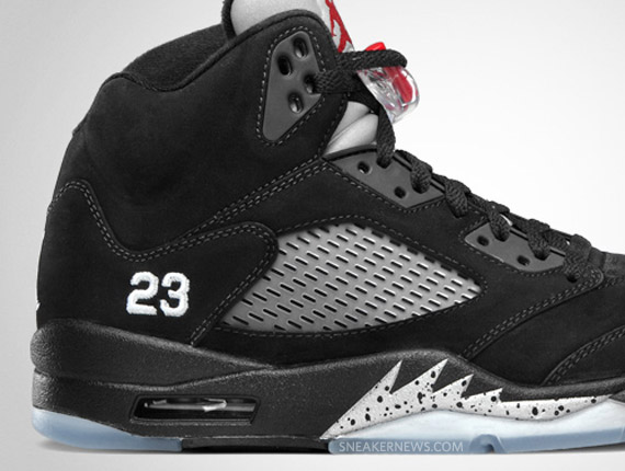 free shipping 409eb 40f11 Air Jordan V Retro - Black - Metallic Silver | Official ...
