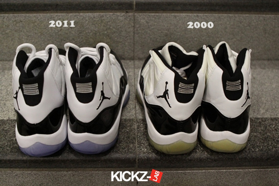 edc5ce116c7 Air Jordan XI Concord - 2000 vs. 2011 Comparison - SneakerNews.com