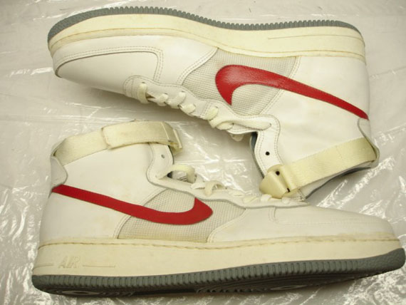 more photos 810be 35ae6 Nike Air Force 1 High OG – White – Grey