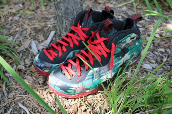 online retailer d37f7 7ae7e Nike Air Foamposite One  Camo  Customs - SneakerNews.com