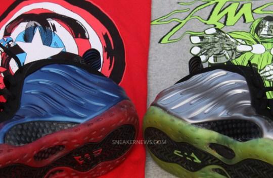 Nike Air Foamposite One 'Captain America vs. Dr. Doom' Sole Swap Customs