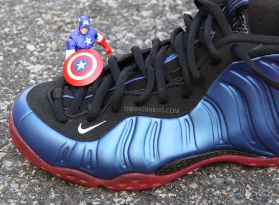 9d2570c78ff21 Nike Air Foamposite One  Captain America vs. Dr. Doom  Sole Swap ...