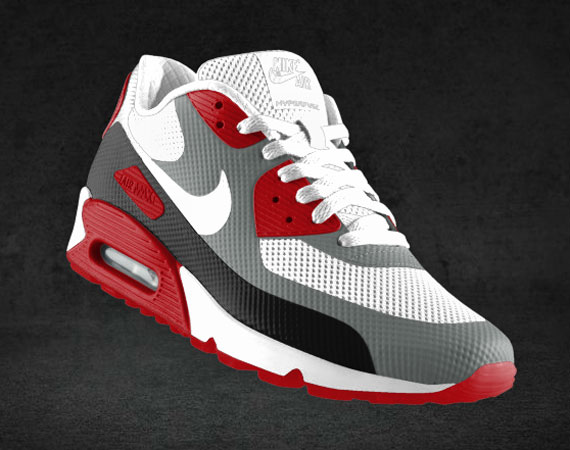 air max 90 red hyperfuse
