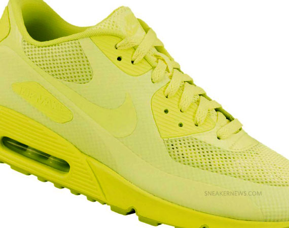 2011 nike air max 90 hyperfuse neon yellow