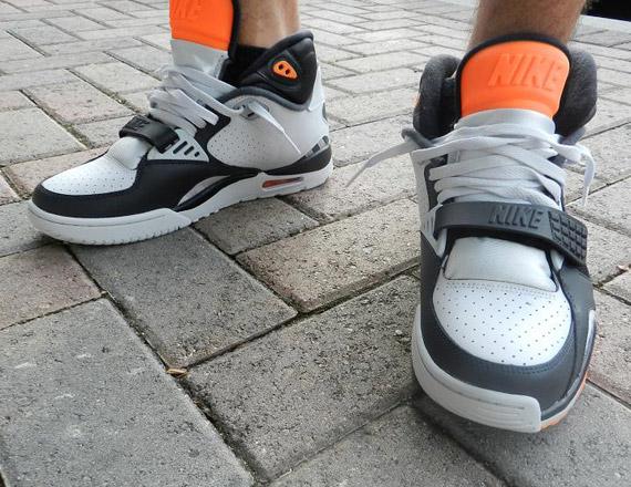 sale retailer d6256 77390 Nike Air Trainer SC II – Grey – Black – Total Orange  Available
