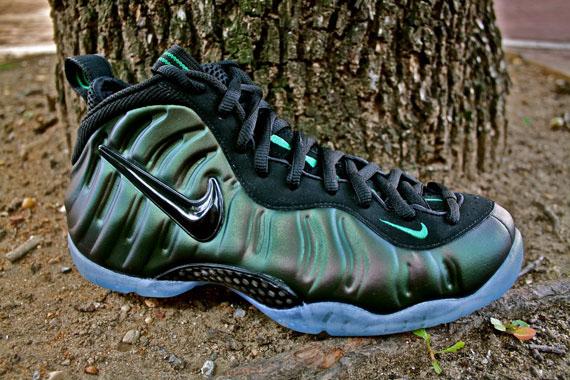 Nike Air Foamposite Pro Dark Pine Green Black Shoes