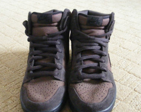 brand new 10c43 41b43 Nike SB Dunk High - Pebbled Brown Leather  Sample on eBay - SneakerNews.com