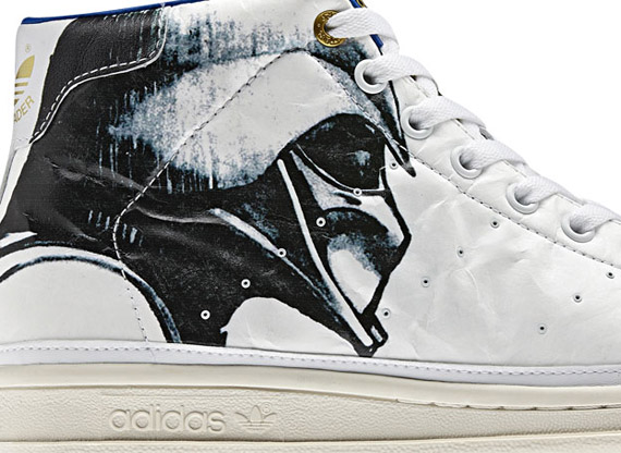 new style b06d4 e3d3a Star Wars x adidas Originals Stan Smith 80s Mid  Darth Vader