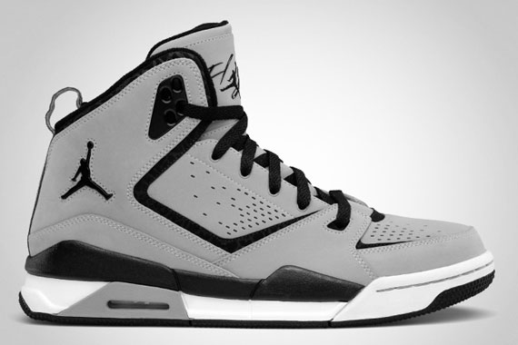 air jordan sc-2 medium grey black&white living room
