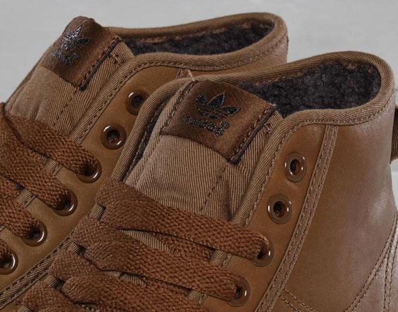 adidas Originals Nizza Hi Brown Leather delicate ... dc15be96ee