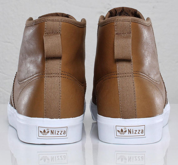 reputable site 09df4 0911d best adidas Originals Nizza Hi Brown Leather