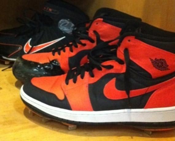 1dc0dea82 Air Jordan 1 High - Jeremy Guthrie Custom PE Cleats - SneakerNews.com