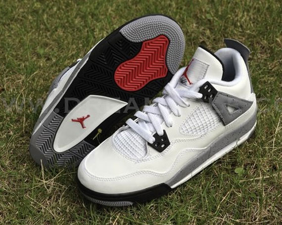 6cd411d40fad6d Air Jordan IV GS - White - Cement - SneakerNews.com